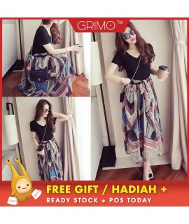 Hawaii Dress Long Cloth Women Dress Cantik Wear Cloth Cute